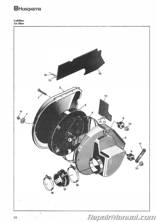1976 Husqvarna 125 Cr Gp Motorcycle Parts Manual