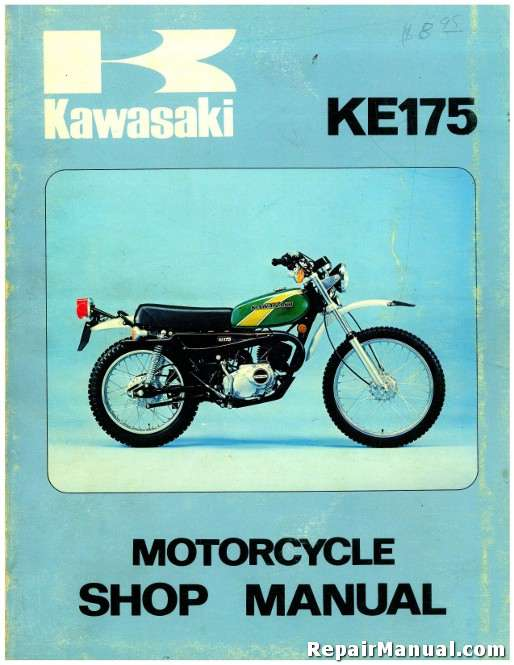 ke175 motorcycle service manual 1976 kawasaki ke175b1 rh repairmanual com 1977 kawasaki ke 175 wiring diagram ke175 wiring diagram