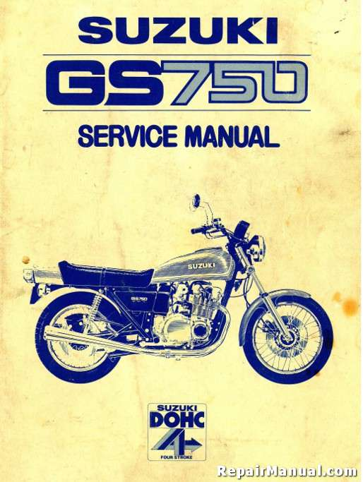 Suzuki Gs 750 Motorcycle Service Manual 1977