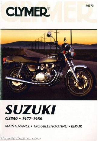 1977-1986 suzuki gs550 clymer motorcycle service repair manual