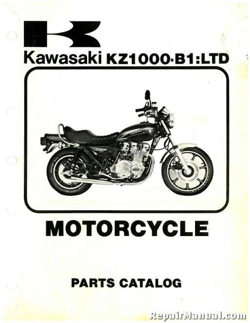 1977 Kawasaki Kz1000 B1 Ltd Parts Manual