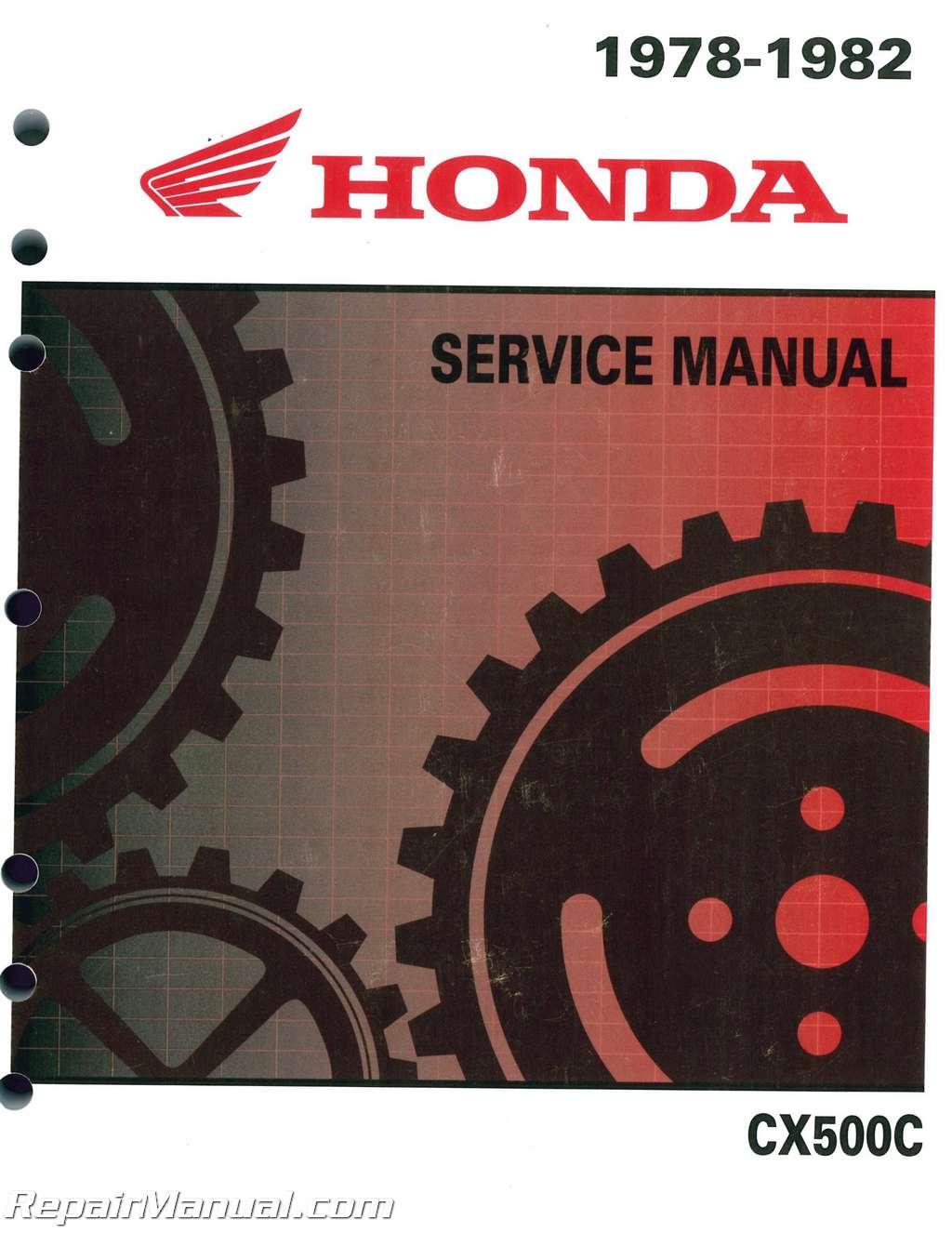 1978  U2013 1982 Honda Cx500c Motorcycle Service Repair Manual