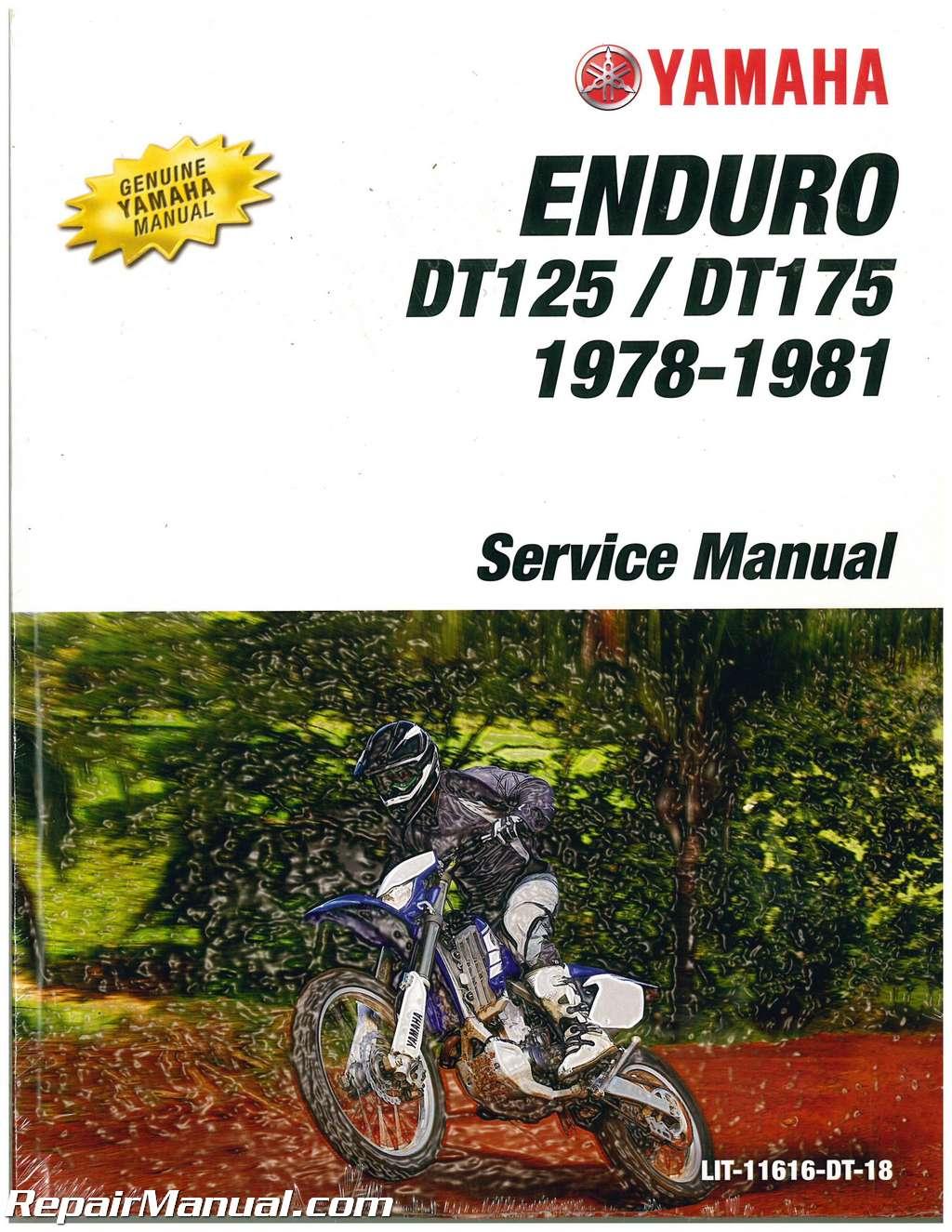 1978 1979 1980 yamaha dt125 dt175 motorcycle service manual. Black Bedroom Furniture Sets. Home Design Ideas