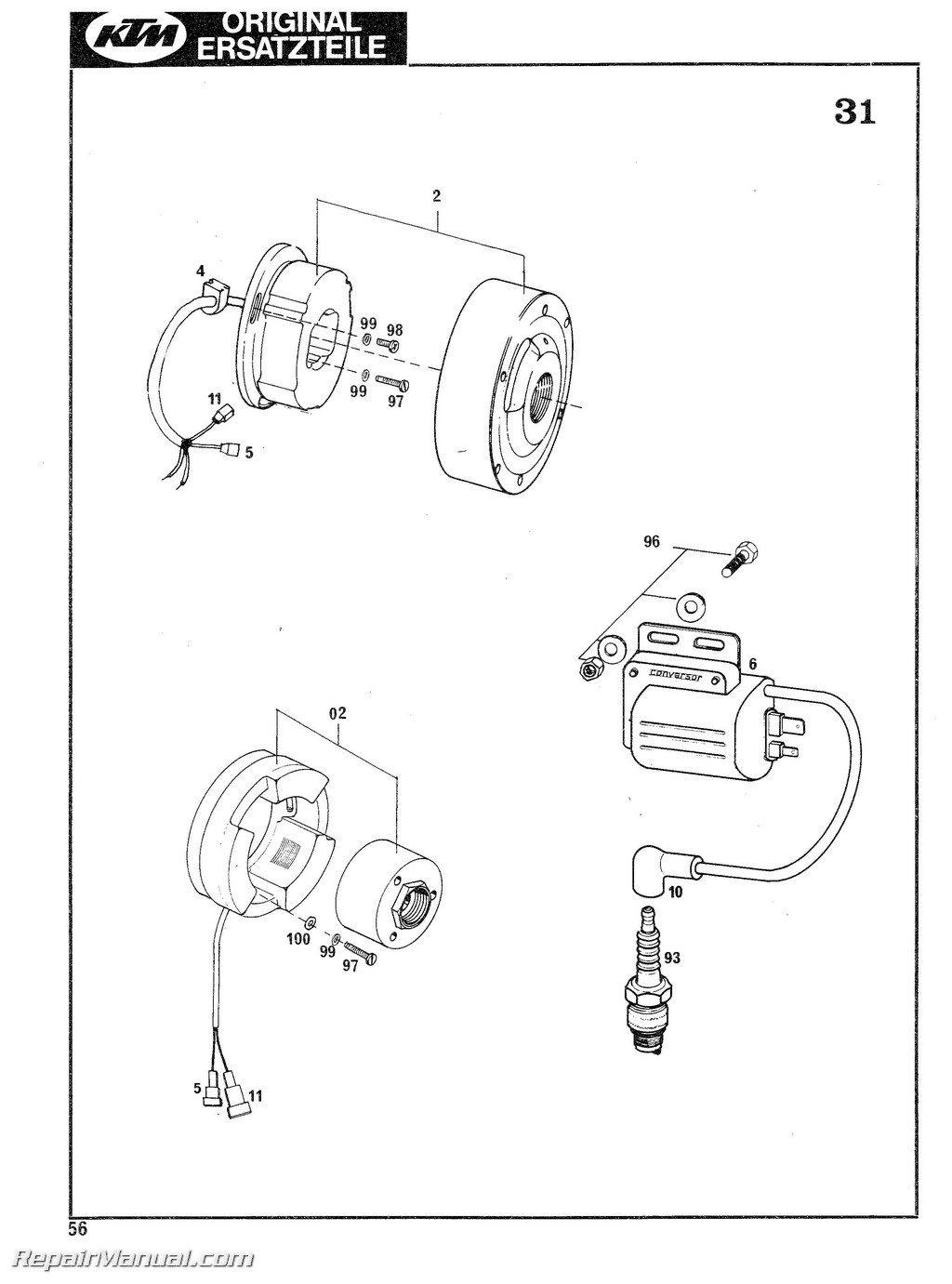 Ktm Parts Manual Wiring Library Engine Diagrams 1978 1979 125 175 240 250 340 400 Motorcycle Spare
