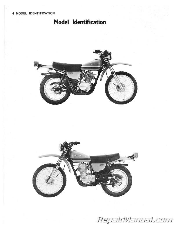 1978-1979 Kawasaki KL250 Motorcycle Service Manual on