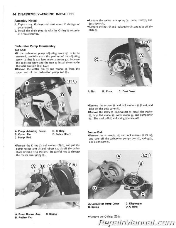 1978 1979 kawasaki kl250 motorcycle service manual rh repairmanual com kl250 kawasaki repair manual kawasaki kl250 service manual download