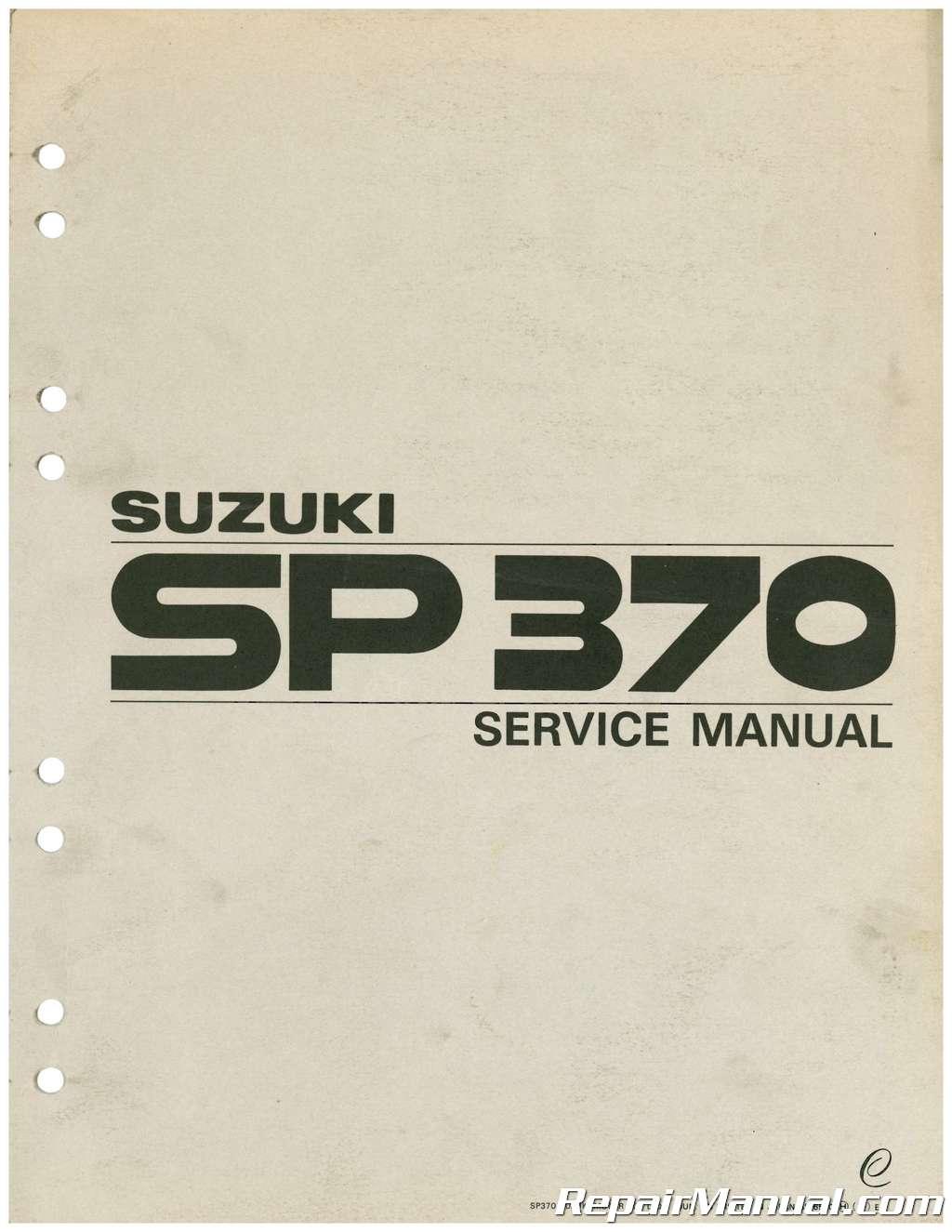 1978 1979 Sp370 Suzuki Service Manual