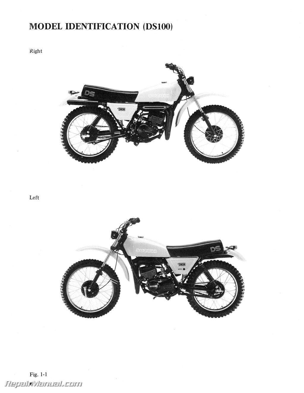 Suzuki Ds 125 Manual Ts Wiring Diagram 1978 1981 Ds100 Ds125 Motorcycle Service Rh Repairmanual Com
