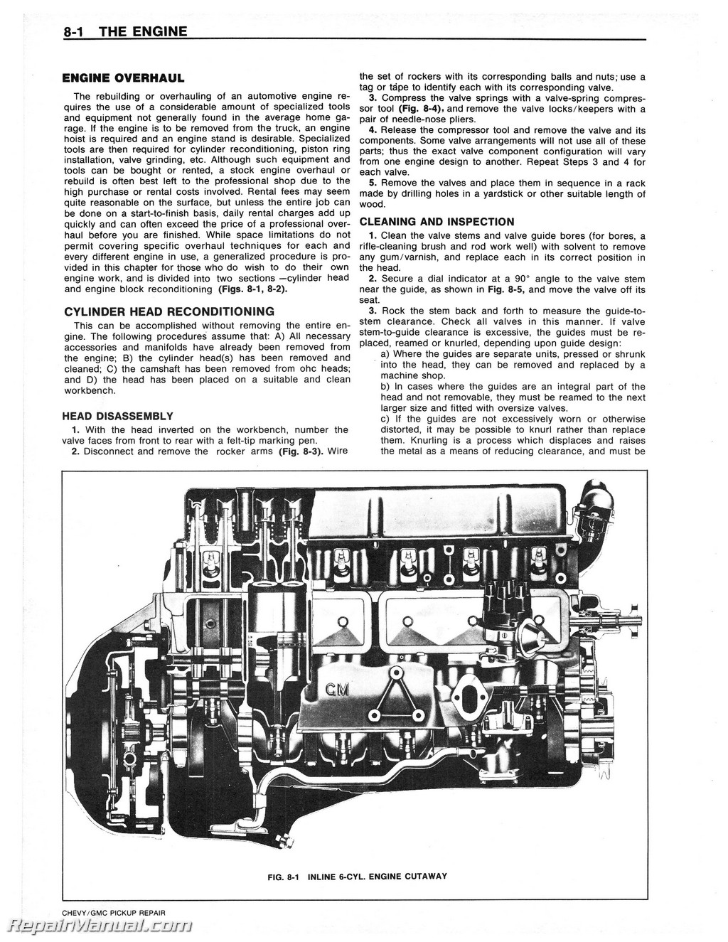 1978 chevrolet gmc pick up repair manual rh repairmanual com Lycoming IO-360 Overhaul Manual haynes chevrolet engine overhaul manual pdf