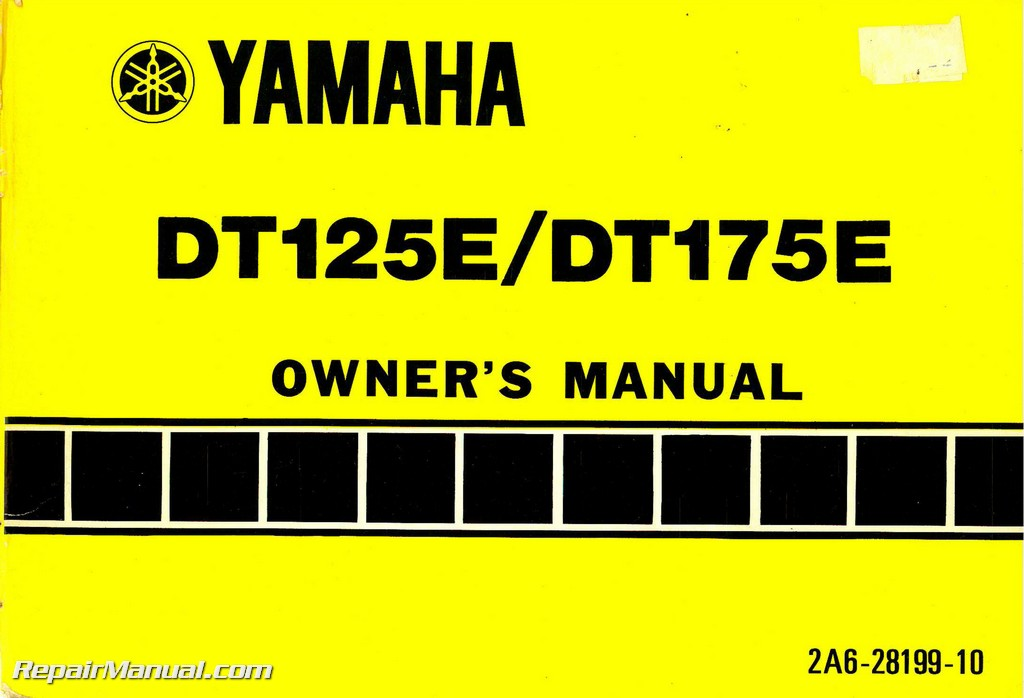 1978 Yamaha Dt125e Dt175e Motorcycle Owners Manual