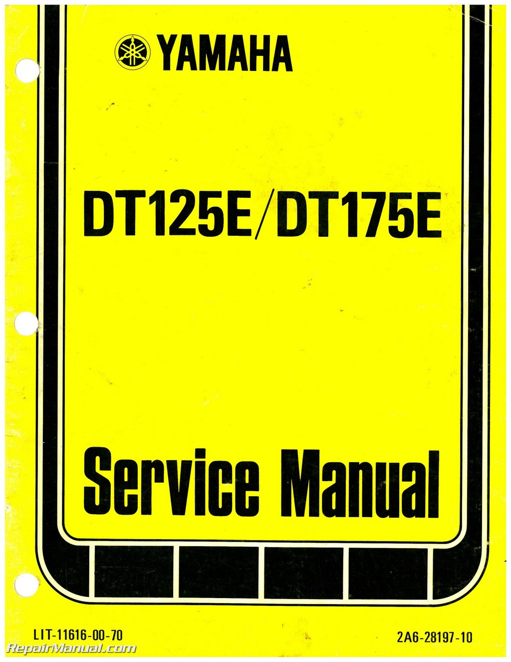 1978 Yamaha Dt125e Dt175e Motorcycle Service Repair Manual