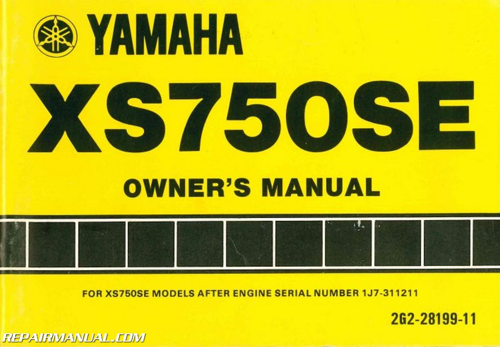1978 Yamaha Xs750se Motorcycle Owners Manual