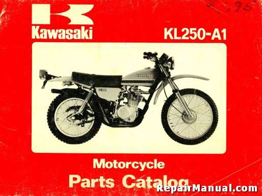 kawasaki kl 250 workshop manual