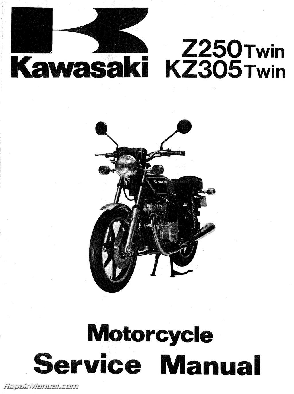 1979-1982 z250 1981-1983 kz305 1983 ex305 1983 er250 ... kawasaki z250 wiring diagram #14