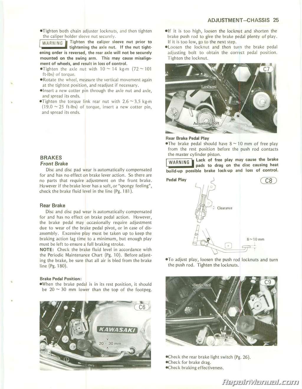 1980 Kz750 G1 Wiring Diagram Reinvent Your Kz900 1979 1984 Kawasaki Twin Cylinder Motorcycle Repair Manual Rh Repairmanual Com Xt225 Kz550