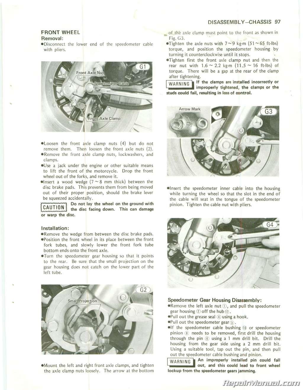 1979 1984 kawasaki kz750 twin cylinder motorcycle repair manual 1979 1984 kawasaki kz750 twin cylinder repair manual page 3