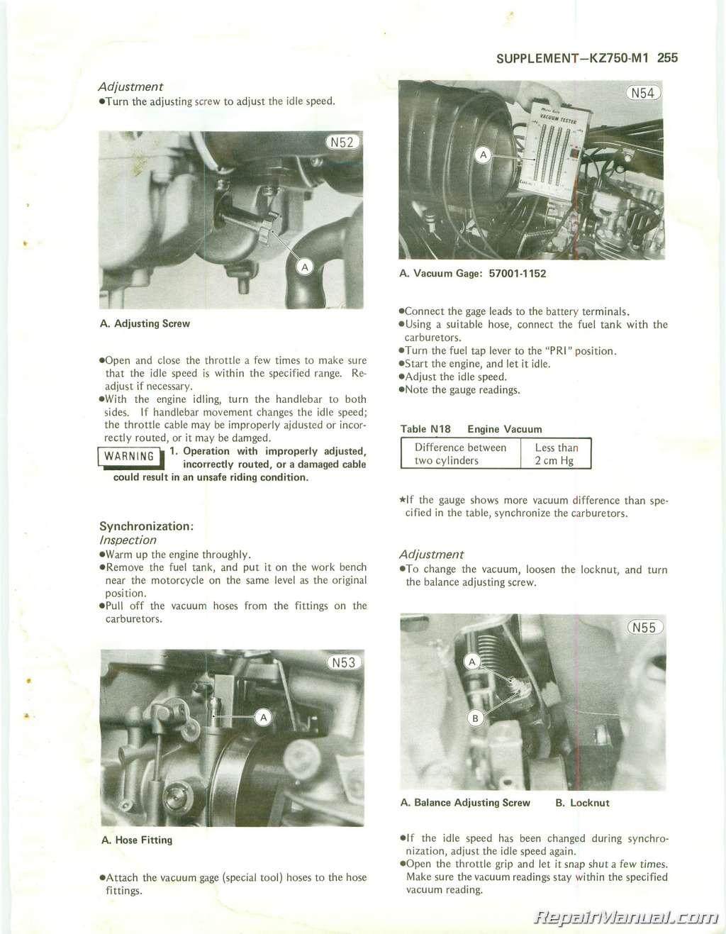 Kawasaki Kz Twin Cylinder Repair Manual Page
