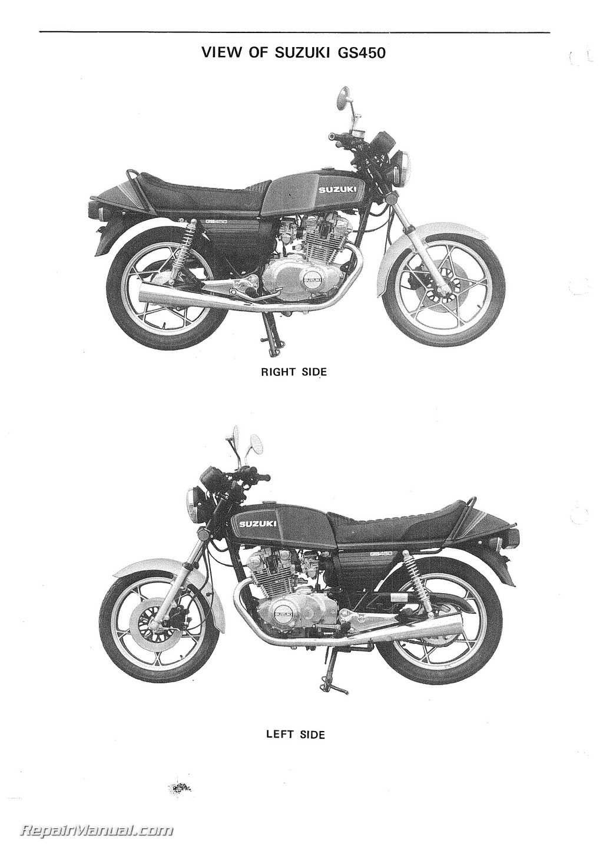 1979 1988 suzuki gs450 motorcycle service manual rh repairmanual com Suzuki GS1100E Front Fork Suzuki GS1100E Specs
