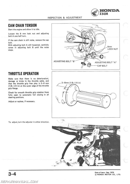 1979 1987 Honda Z50r Motorcycle Service Manual