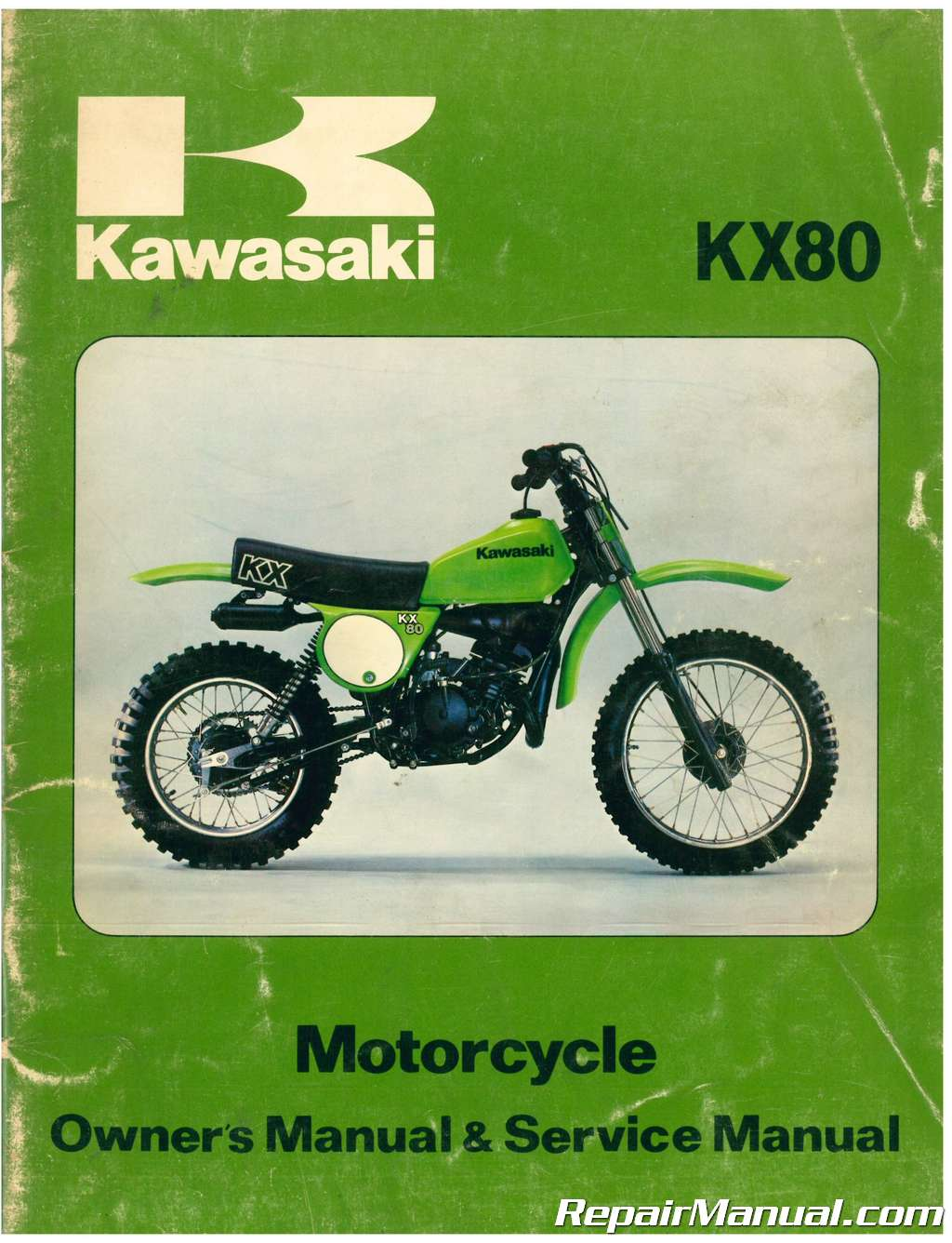 ... Array - used 1979 kawasaki kx80 a1 motorcycle owners service manual rh  repairmanual ...