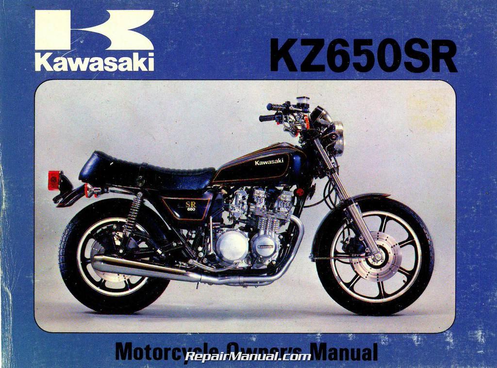 1979 kawasaki kz650d2 sr series motorcycle owners manual | ebay
