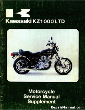 1979 Kawasaki KZ1000 B3 LTD Motorcycle Service Manual Supplement