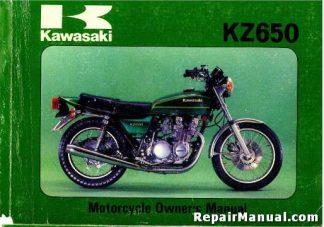 1979 Kawasaki KZ650B3 Motorcycle Owners Manual