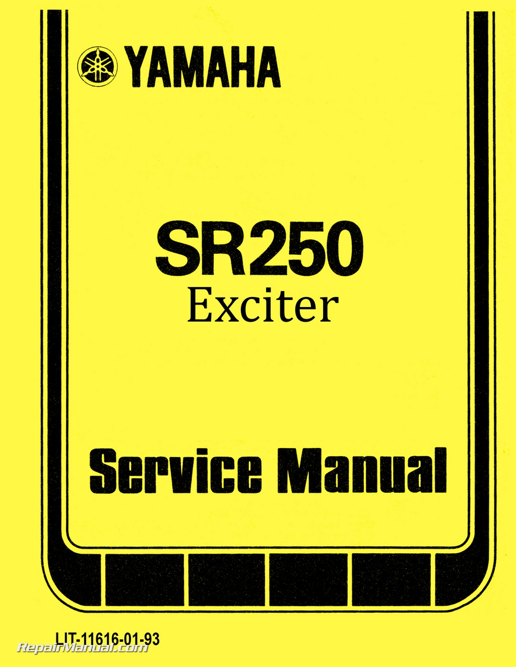 1980 1982 yamaha sr250 exciter motorcycle service manual rh repairmanual com 1981 yamaha sr250 exciter wiring diagram Yamaha Sb250