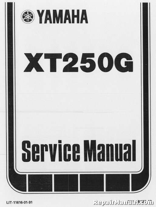 1980 1982 yamaha xt250 motorcycle repair service manual. Black Bedroom Furniture Sets. Home Design Ideas