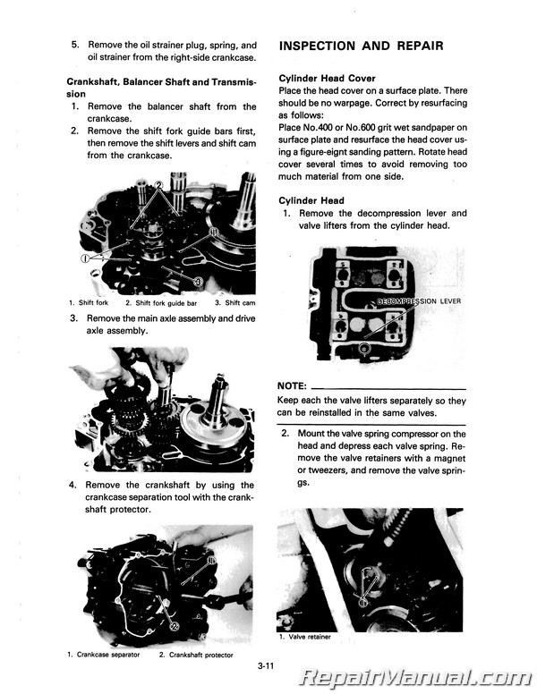 1980-1984 Yamaha XT250 Motorcycle Service Manual on