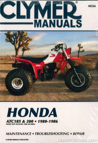 1980 1986 Honda ATC 185 200 Repair Manual By Clymer
