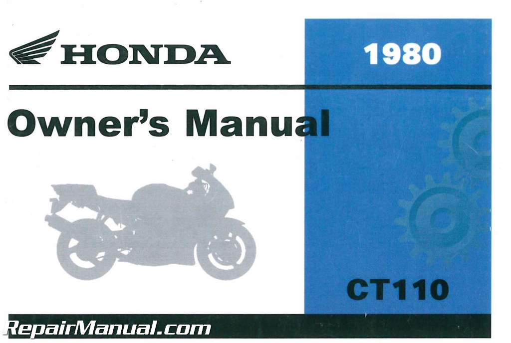 1980 honda ct110 scooter owners manual rh repairmanual com Engine Exploded View Engine Rebuild Kits