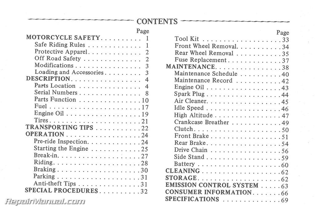 1980 honda ct110 scooter owners manual rh repairmanual com honda ct110 workshop service manual honda ct110 service manual