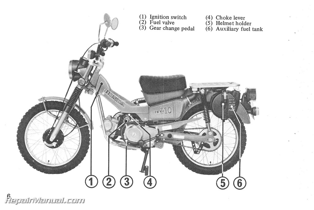 1980 honda ct110 scooter owners manual