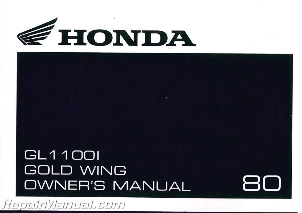 Honda repairmanual Gl1100 free