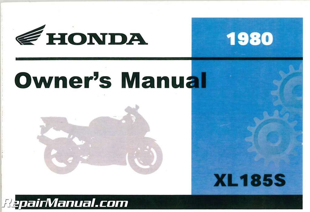 1980 honda xl185s motorcycle owner manual rh repairmanual com honda owner's manual honda user manual hrr216k9vla