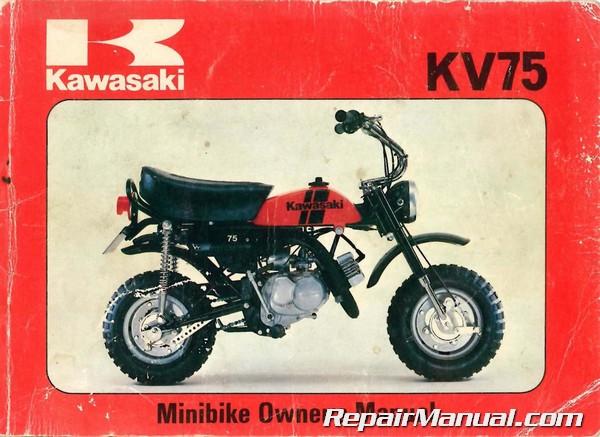 1980 Kawasaki Kv75 A9 Minibike Motorcycle Owners Manual