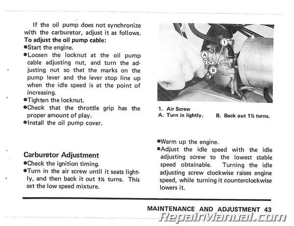 1980 kawasaki kv75 a9 minibike motorcycle owners manual ebay. Black Bedroom Furniture Sets. Home Design Ideas