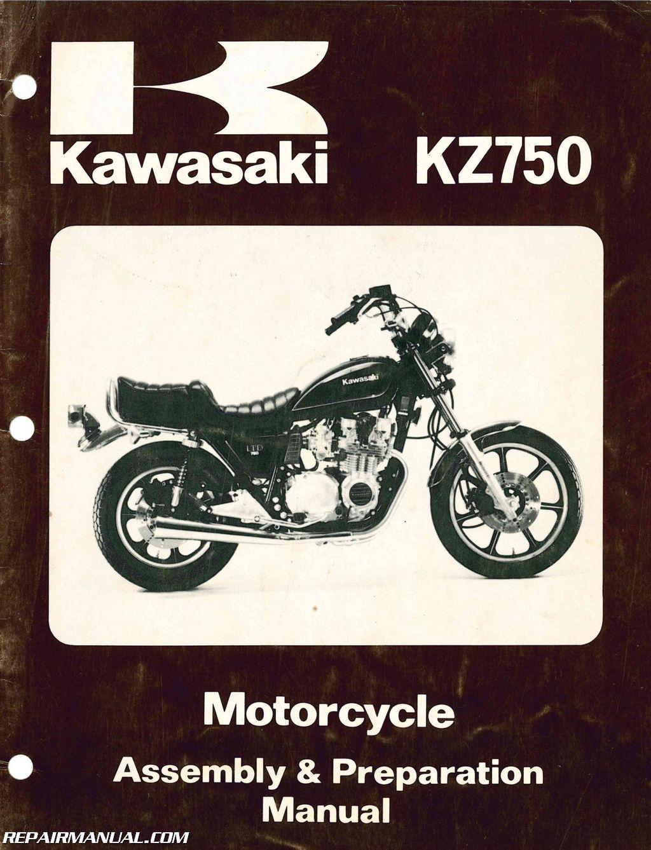1980 Kawasaki Kz750h1 Ltd Motorcycle Assembly Preparation Manual Ninja Wiring Harness Routing