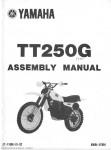 1980 Yamaha TT250G Assembly Manual