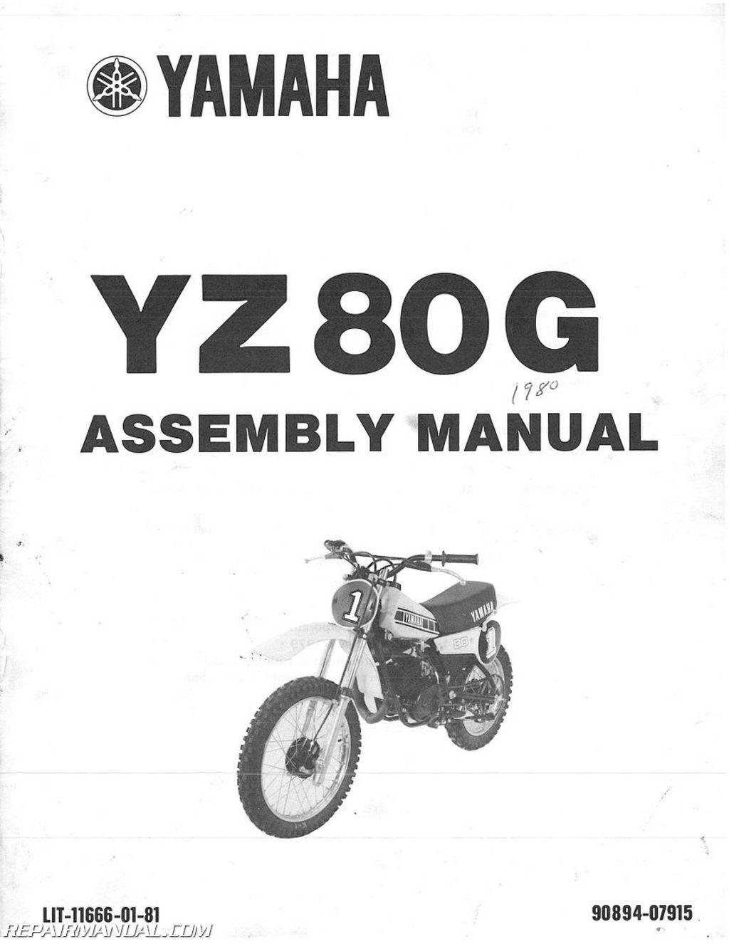 1980 Yamaha YZ80G Assembly Manual