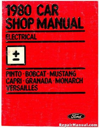 1980 Ford Electrical Car Shop Manual