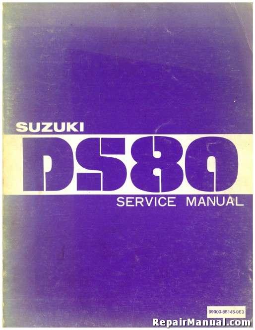 1981 1982 suzuki ds80 motorcycle repair service manual rh repairmanual com suzuki ds80 owners manual pdf 1980 Suzuki DS80