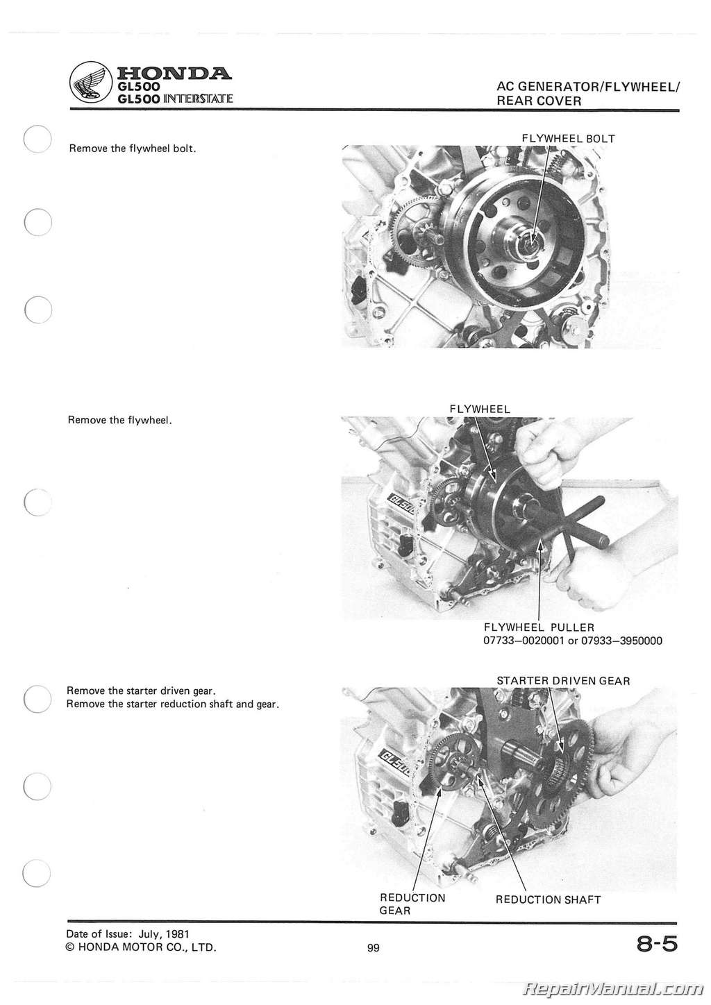 Honda Silverwing Gl Gl Service Manual Page on Honda Silverwing Gl500 Motorcycle For Sale