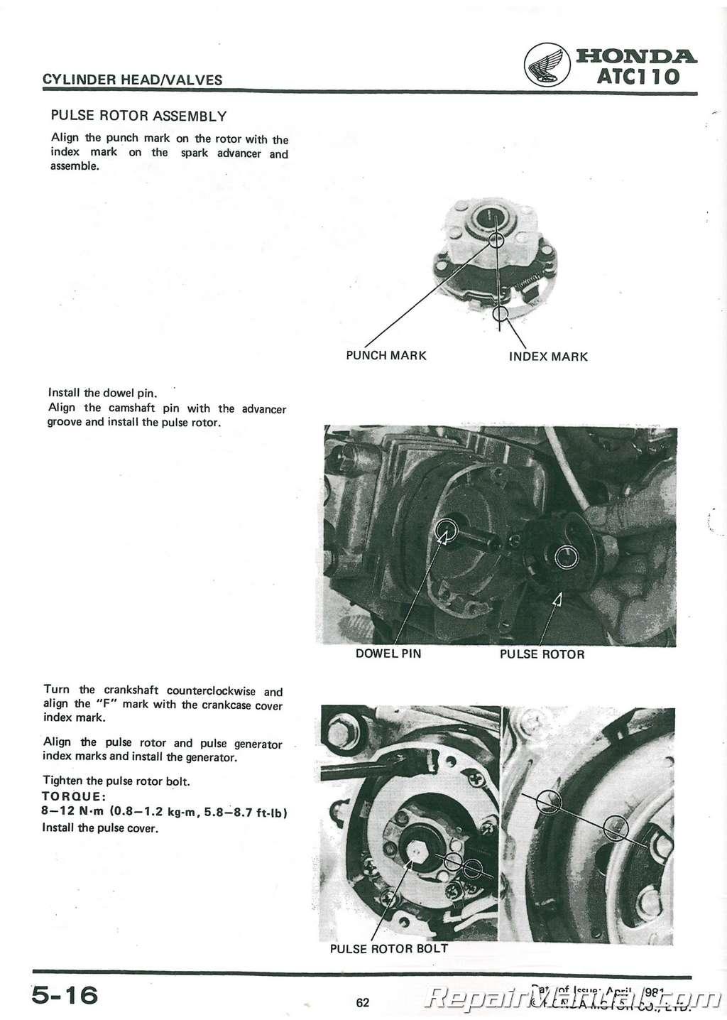 1981 1984 honda atc110 all terrain cycle service manual rh repairmanual com honda atc 110 service manual pdf honda atc 110 manual download