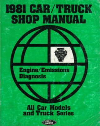Car Truck Shop Manual 1981 Ford Used