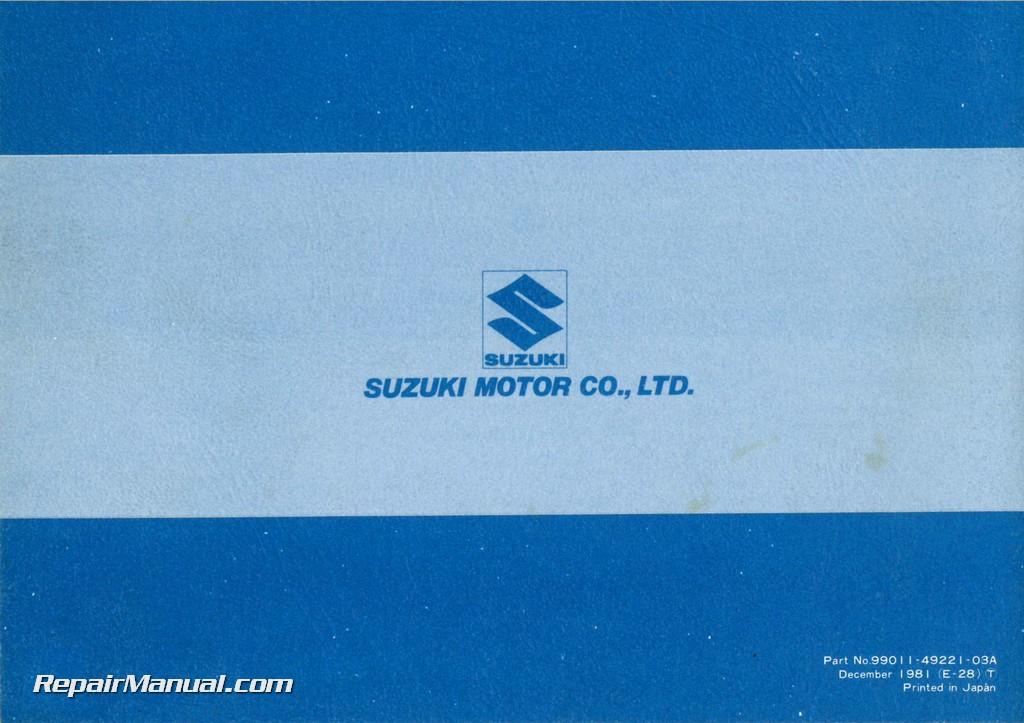 Suzuki gs 1100 free manual