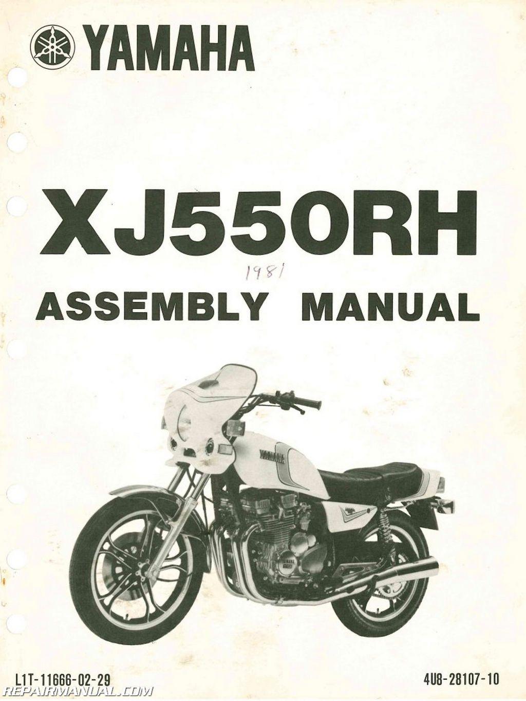 1981 Yamaha XJ550RH Seca Assembly Manual