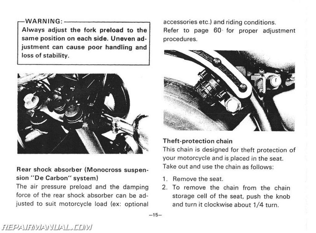 1981 yamaha xv750h virago motorcycle owners manual. Black Bedroom Furniture Sets. Home Design Ideas