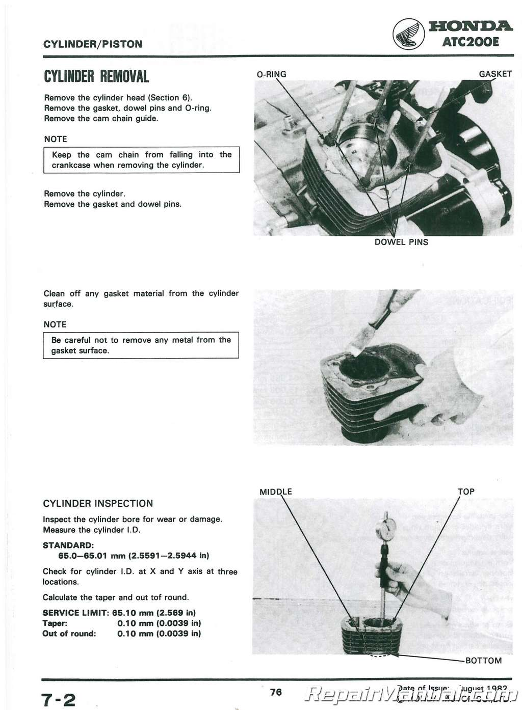 1982 1983 honda atc200e big red atv service manual. Black Bedroom Furniture Sets. Home Design Ideas